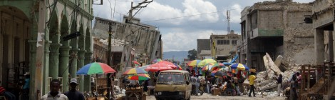 Market day in downtown Port-au-Prince, Haiti.  Credit: David Lallemant