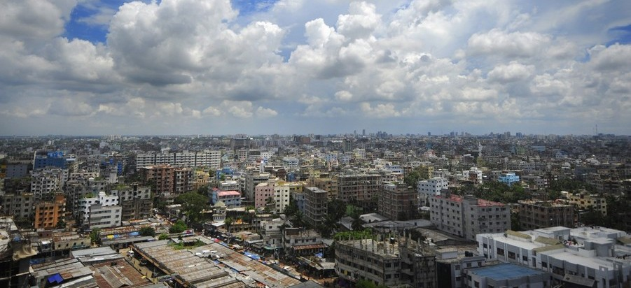 A general view of the Bangladeshi capital city Dhaka on September 20, 2010. The South Asian nation sits on active tectonic plates and is frequently jolted by tremors. The last major earthquake struck in 1896. AFP PHOTO/ Munir uz Zaman / Getty Images