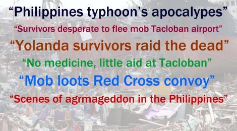 Typhoon in the Philippines: reading between the lines of sensationalist journalism