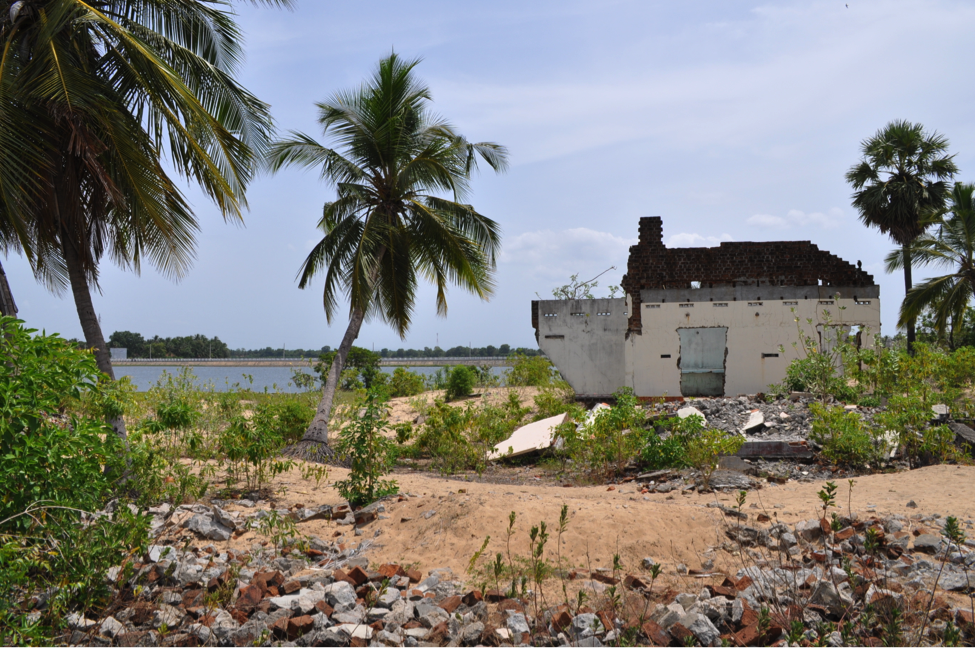 On the eastern coast of Sri Lanka nine years after the Tsunami, local officials hope that this beach area will repopulate with vacation rental homes since permanent residents were restricted from rebuilding (Photo credit: Shyanaka Dananjaya).